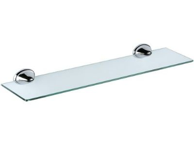 900 Glass Bathroom Shelf with Chrome Brackets - 01000033